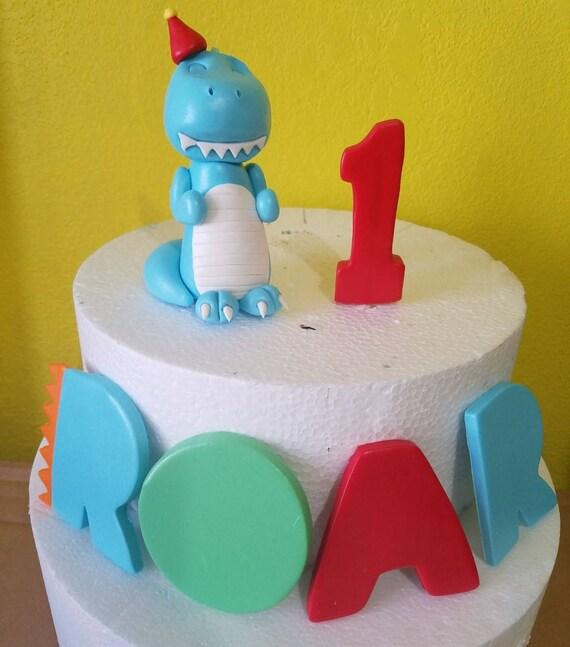 Dinosaur Cake Topper Edible Fondant Dinosaur Dinosaur Fondant Dinosaur Cake Topper Dinosaur Edible Dinosaur Baby Dinosaur Cake