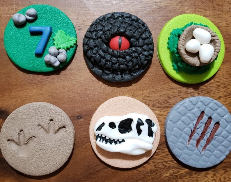 Jurassic World Cake Toppers Jurassic World Cupcake Edible Etsy