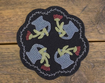 Flower Basket Mini Candle Mat (Handmade)