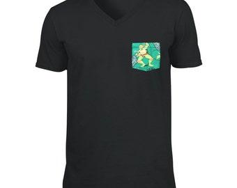 SALE! Ninja Turtle Pocket V-neck T-Shirt, TMNT Ninja Turtle Pocket V-Neck T-shirt