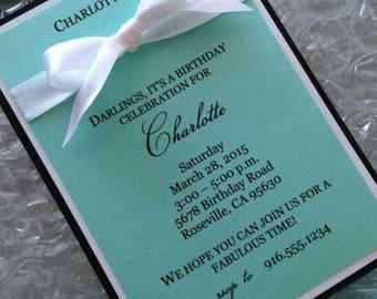 Tiffany & Co. Inspired Birthday Invitation