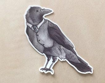 Watercolor Crow - Vinyl Sticker