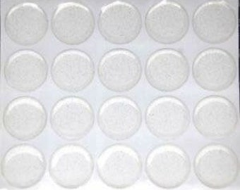 """1"""" clear and glitter epoxy domes bottle cap coverage"""