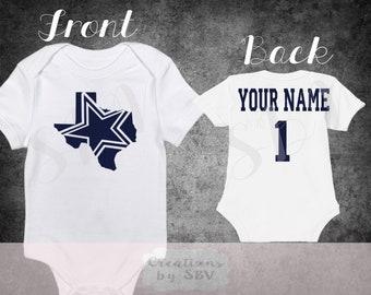 Dallas Cowboys customize baby bodysuit e4b812a17