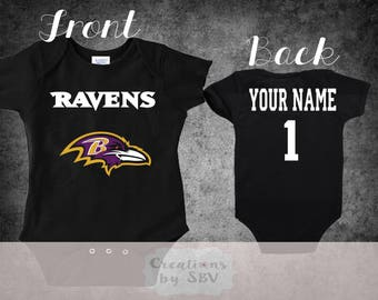 dc206bd34 Baltimore Ravens customize baby bodysuit, Ravens Football bodysuit, Ravens  Bodysuit