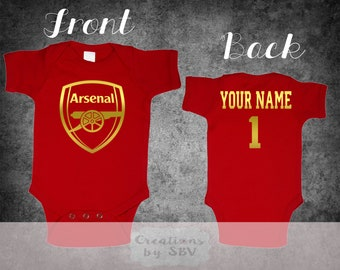 3346959007d Arsenal F.C. customize Red baby bodysuit