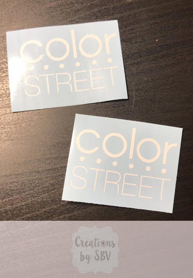 Color Street Vinyl Sticker Color Street Sticker Color Street Logo