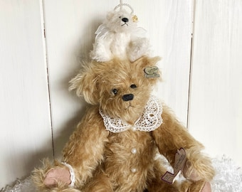 Bears Dolls & Bears Supply Annette Funicello Angel Collection Luna Ivory Plush Bear Street Price