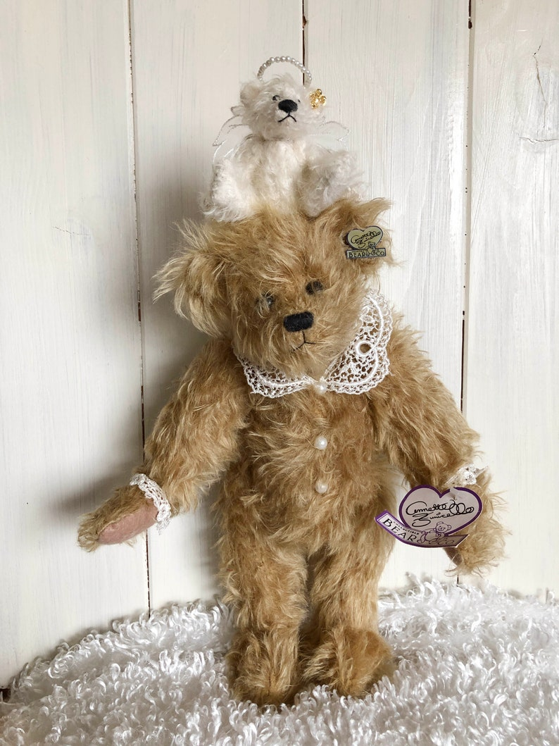 Annette Funicello Annette Funicello Collectible Bear Co.with Lace Collar And Heart Pin Without Return Dolls & Bears