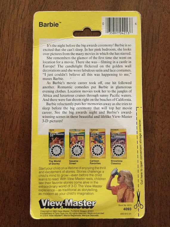 Superstar Barbie View-Master Reels 1989, MOC, AND Really Big Sticker, 1991,  MOC