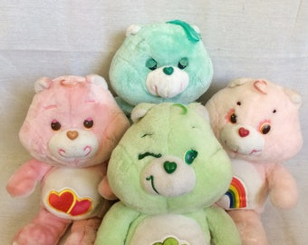 """Vintage Large 18"""" Care Bears, Cheer, Good Luck, Bedtime, Love-A-Lot, 1983"""
