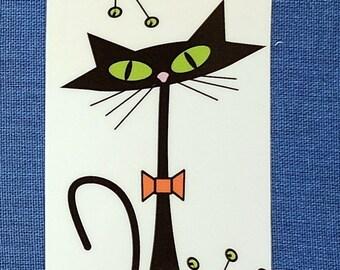Atomic Cat Halloween Bookmark