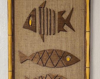 Tiki Art Wall Art Panels of Fish