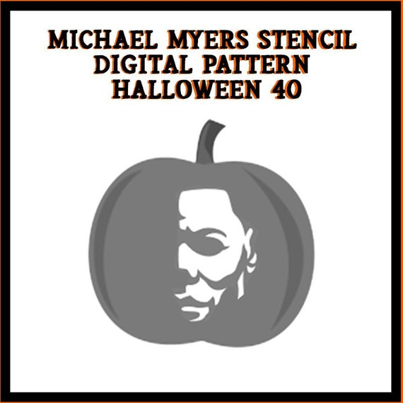 Michael Myers Pumpkin Digital Pattern Halloween 40 Etsy