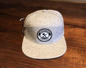 Grey Herringbone Hat