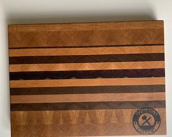 End Grain Oak Cutting Board