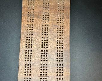 Live Edge Black Walnut Cribbage Board