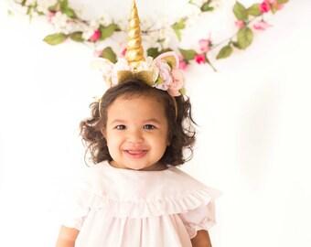 Unicorn Horn Headband-Unicorn headband-headband-Baby Headband-Toddler Headband- Hair Bows- headbands-Diy Kit-Unicorn Headband Kit