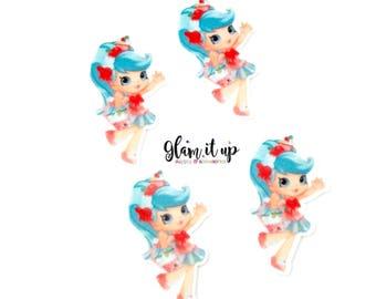 Shopkin bow center-Jessicake Center- shopkin inspired Flatback resin- shopkin cabochon-shopkin hair bow center-hair bow