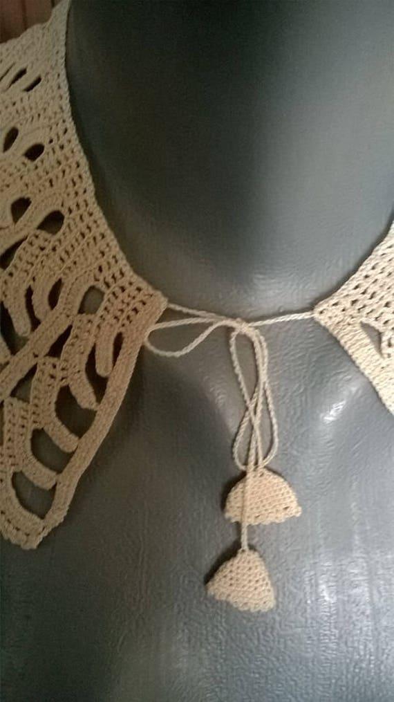 Collar crocheted, Handmade collar, Vintage collar… - image 4