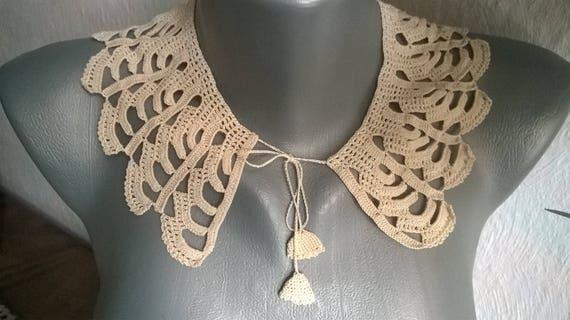 Collar crocheted, Handmade collar, Vintage collar… - image 1