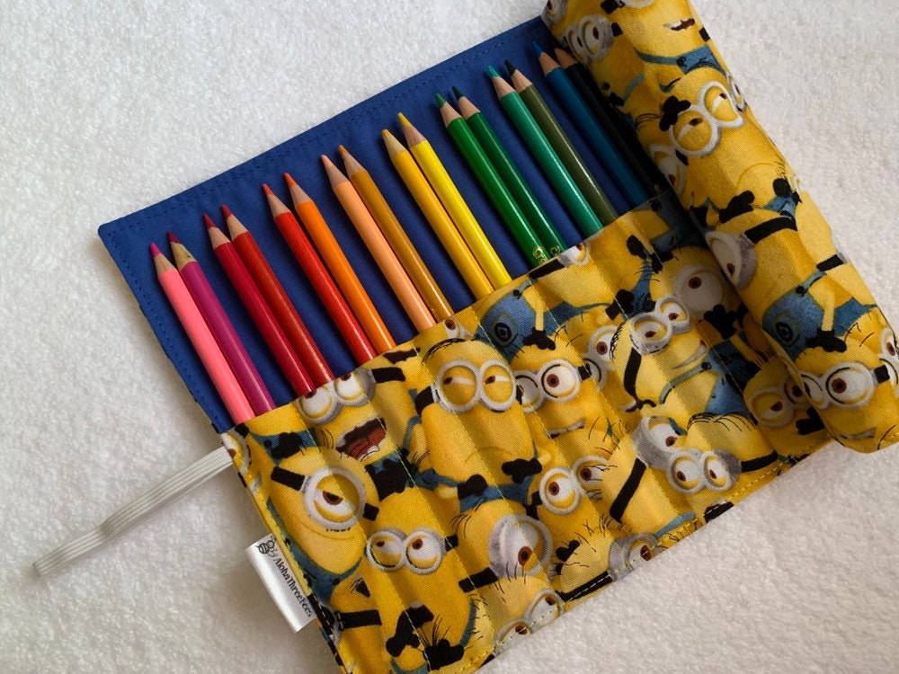 Minions 24 Roll MinionEtsy Holder Count Pencil Crayon 8wOPXZNkn0
