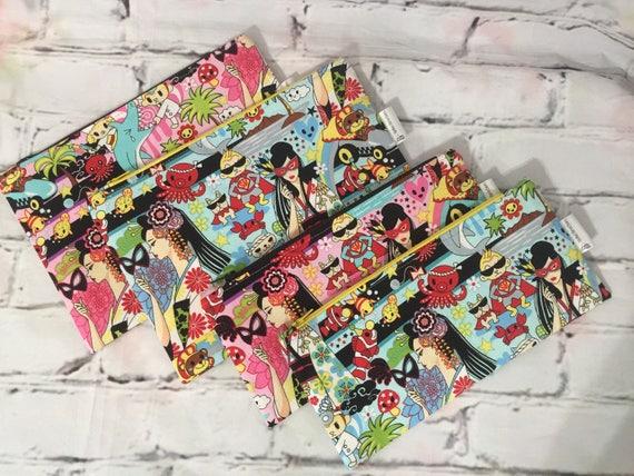 9d7b31c16d6 Make up bag size 6x9   pencil case size   Etsy