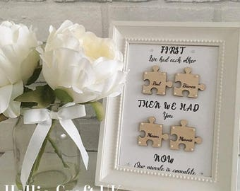 Bespoke Family Quote Puzzle Frame
