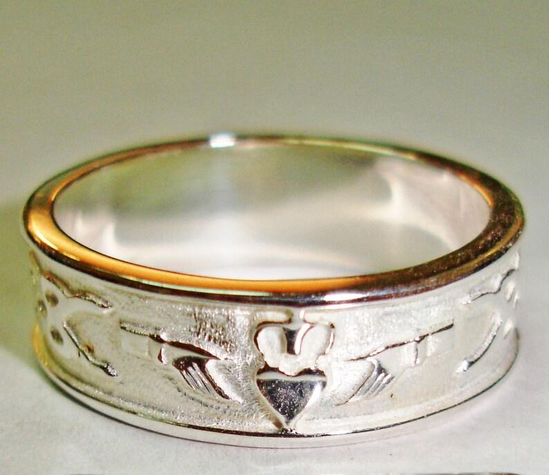 Wedding Alliance Sterling silver marriage rings wedding alliances A-118 Claddagh