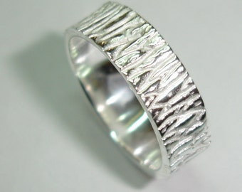 Wood texture imitation sterling silver wedding ring, A-30 rings, rings of marriage