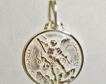 Pendant archangel Miguel in sterling silver
