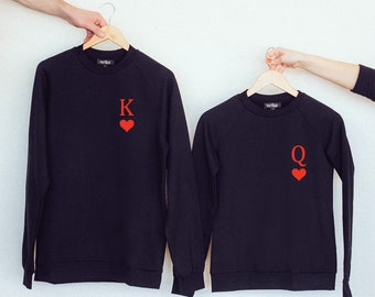 58cd474f7d pärchen jumpers, couples shirts, couples sweatshirt, sudaderas para  parejas, matching couple clothes, his and hers,king and queen,poker icon