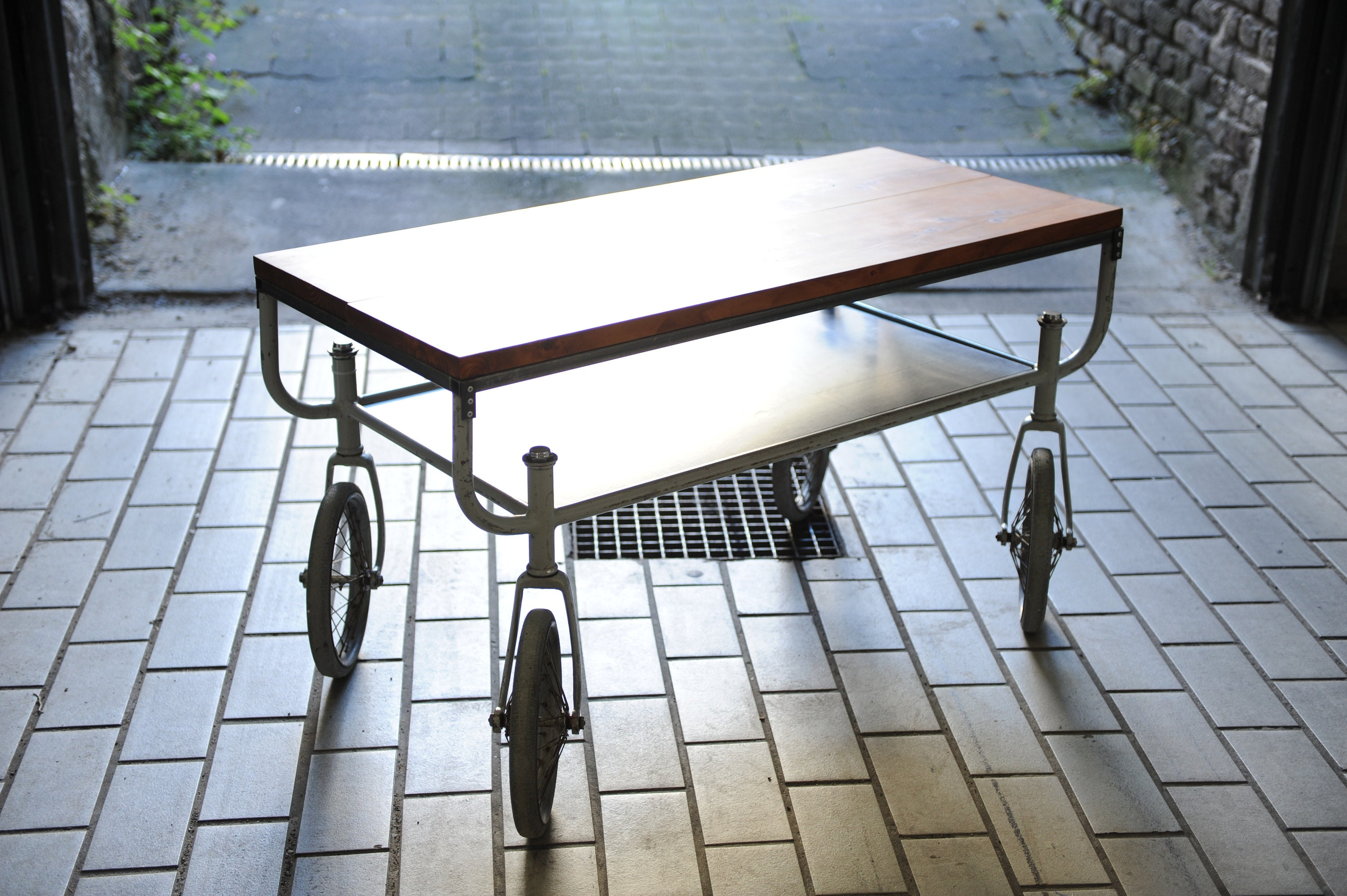 - Coffee Table Rolling Table Industrial Style Vintage Loft Etsy