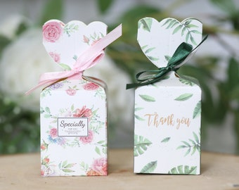 Pink Theme Wedding Favour Bags Vintage Style Floral Personalised 1-100