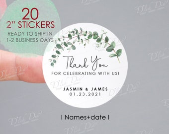 20 Wedding Favor Stickers Silver Sticker Foil Sticker 2x1.25 Spread the Love Sticker Metallic Sticker Custom Wedding Sticker