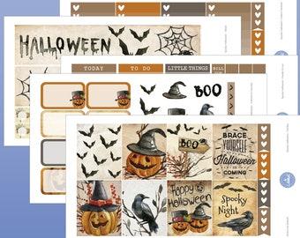 Spooky Halloween Weekly Kit | Halloween Planner Sticker | October Weekly Kit | November Weekly Kit | Halloween Weekly Kit | Pumpkin Stickers