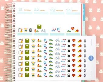 Gym Stickers | Workout Stickers | Fitness Stickers | Planner Stickers | Journal Stickers | Diary Stickers - Erin Condren, Happy Planner