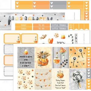 Halloween Stickers Halloween Life Planner Full Weekly Kit Pick your Planner Full Kit Theme Stickers Ghoul Times October