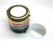 5pcs lot 7.0cm (2-3 4 quot ) pocket mirror DIY kit, metal box mirror, includes glass or aluminum flat tile N06m