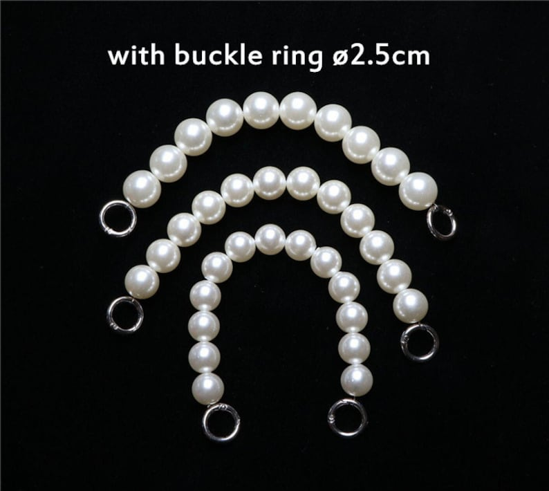 Outer 1012141618202224mm Pearl beads handle chain 30cm  12 inches PC03