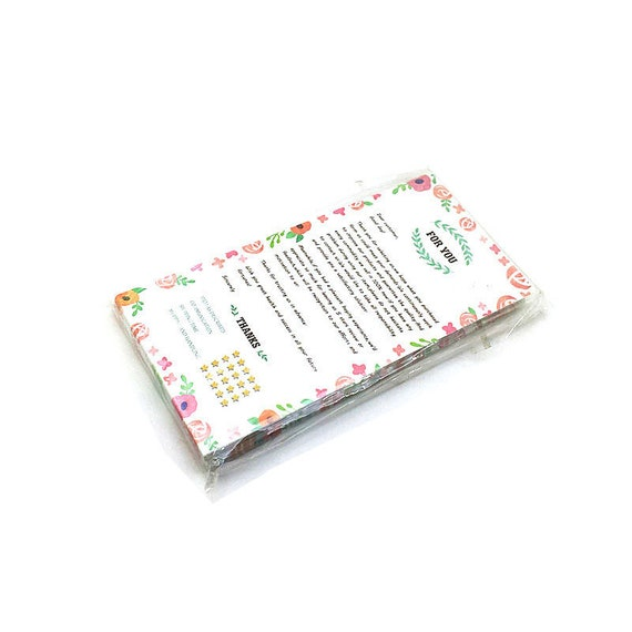 100pcs Thank You For Shopping Card Size 14cm X 6 8cm English Etsy