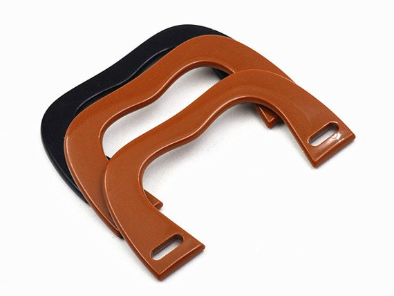 One pair All Orders Trackable Online 14.5cm x 8cm plastic bag handle DIY purse handbag hardware JD007
