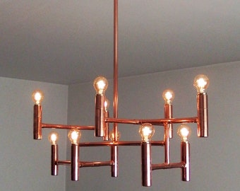 Plafoniere Industriali Vintage : Lampadari e lampade a sospensione etsy it
