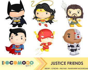 Superhero Clipart, Superhero Clip Art, Superhero Png, Superheroes Clipart, Heroes Clipart,Hero Clipart, Digital Clipart, Justice, League