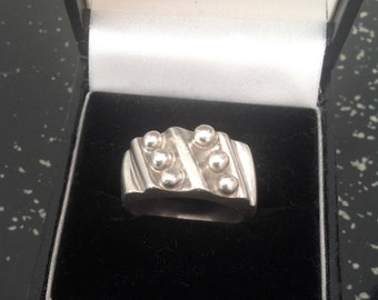 Vintage Modernist Mexican silver ring