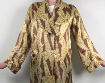 1930s robe dressing gown Art Deco design rayon vintage
