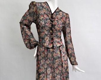 1930s floral dress antique vintage