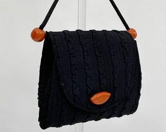 1930s handbag with butterscotch coloured details vintage antique