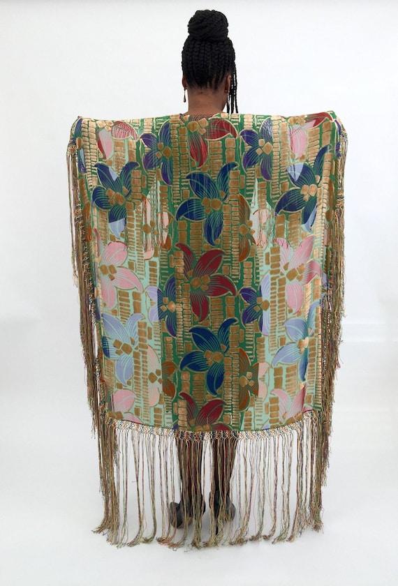 1920s devoré shawl vintage antique