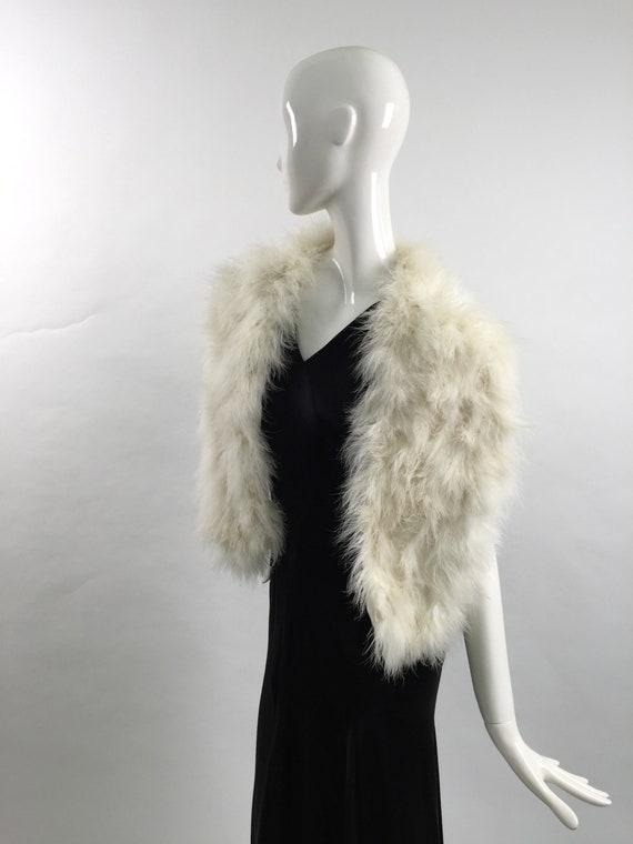 1950s marabou feather stole vintage - image 5